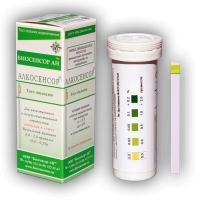 АЛКОСЕНСОР (25 шт) определения алкоголя в крови по слюне